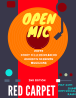 Red Carpet Open Mic Logo