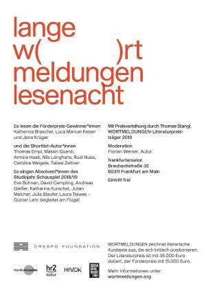 Flyer WORTMELDUNGEN Lesenacht 23.11.2019-2